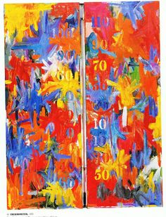 Jasper Johns (Dear copyright owners p lease read p. at the bottom of this post, thanks) Jasper Johns, Paitings with. Tachisme, Robert Rauschenberg, Pop Art, Jasper Johns Paintings, Jasper Jones, Pablo Picasso, Neo Dada, Seattle Art Museum, Cultura Pop