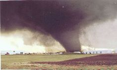 March 13, 1990 - A large F5 tornado photographed in Hesston, Kansas. My husband and in-laws were in this tornado.