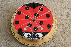 DIY - Lady Bug Cake Favors $3 for the download.