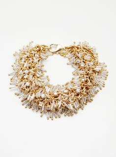 Gold Bugle Bead Bracelet