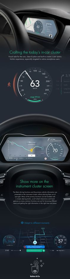 Automotive UI concept on Behance