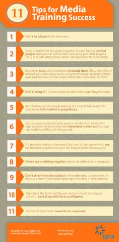 Elevn tips for #media training success.