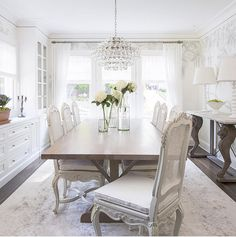 Dining Room built-in cabinet painted in BM White Dove and Lincoln ...