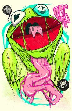 Kermit the Frog   Remix by Twobe , via Behance