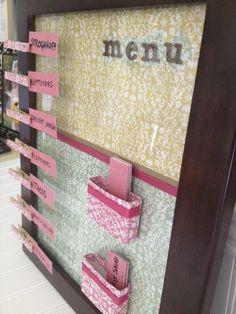Great meal planning idea!  #mealplanning #menu