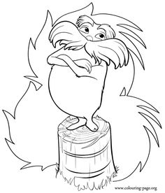 Truffle trees coloring pages ~ Lorax Coloring Pages | School - April | Pinterest ...