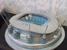 Image detail for -Manchester City's Etihad stadium gets a detailed replica in cake form - WOW Cakes For Men, Cakes And More, Football Stadiums, Football Cakes, 50th Birthday, Birthday Cakes, Birthday Ideas, City Cake, Sport Cakes