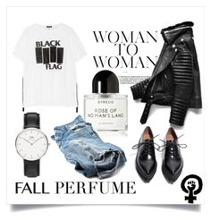 """Me'j K'Courtney"" by mej-parker ❤ liked on Polyvore featuring beauty, R13, Daniel Wellington, Byredo and fallperfume"