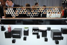 The theme was also displayed alongside the food, catered by Pinch Food Design.  Photo: Bryan Bedder/Getty Images for AOL