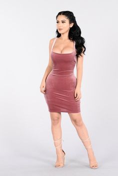 - Available in Mauve and Mocha - Mini Dress - Sleeveless - Velvet - Lined - 90% Polyester, 10% Spandex