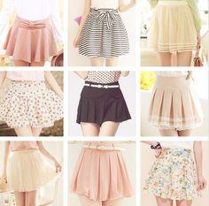 Faldas, diferentes estilos ;)