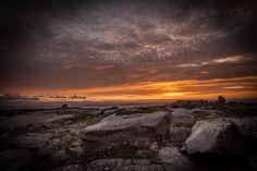 Sunset on Iceland at Rif.