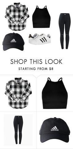 """Alana"" by alanawedge59 on Polyvore featuring Boohoo and adidas"