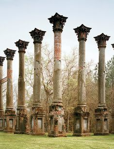 The ruins of Windsor, near Port Gibson. MS - skelaton remains of long gone porches.