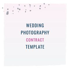 Custom calligraphy or stationery contract template template wedding photography contract template stopboris Image collections