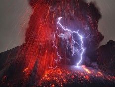 mount sakurajima volcano, japan