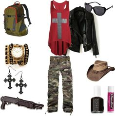 """zombie polyvore   zombie apocalypse outfit"""" by isabell14 on Polyvore"""