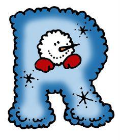 SGBlogosfera. María José Argüeso: ABECEDARIO INVERNAL Alphabet Art, Alphabet And Numbers, Christmas Alphabet, Fancy Fonts, Printable Letters, Letter Set, Pencil Art Drawings, Winter Colors, Christmas Pictures