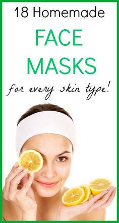 18 Homemade Face Masks for every skin type! SeedsOfRealHealth.com
