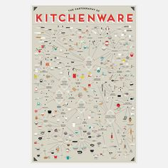 Pop Chart Lab: Kitchenware Chart 24x36, at 25% off!