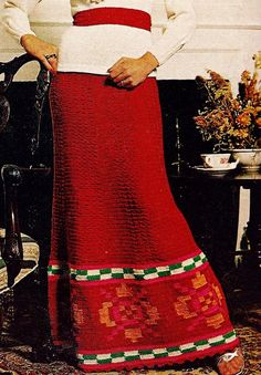 Peruvian Border Skirt Vintage Crochet Pattern Download