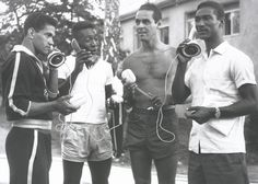 This photo of the Brazilian team holding the influential 'Cobra Telephone' was taken 54 years ago just after the Swedish team played Brazil in the 1958 World Cup at Råsunda Stadium Stockholm, the first of five world cups that Brazil went on to win. http://www.ericssonhistory.com/templates/Ericsson/Article.aspx?id=2095=3161=360=EN