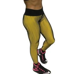6dce4366733b0 Women Stripe Printing Fitness Pants Athleisure Fitness Pleated Hip Slim  Leggings Trousers Workout Jogger Elastic Skinny Pant Price: 9.63 & FREE  Shipping # ...