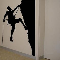 #Mountain climber wall sticker #vinyl #climbing rock silhouette decal art, View more on the LINK: http://www.zeppy.io/product/gb/2/351527060577/