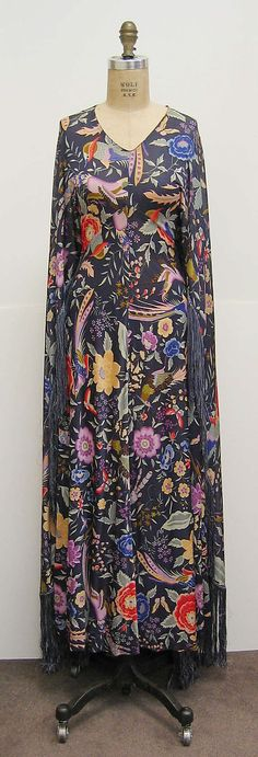 Dress by Missoni: Italian, synthetic, early 1970s