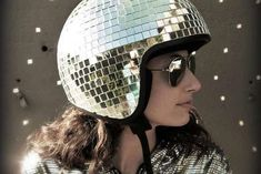The #Disco Ball #Helmet by Natalie Walsh is Fit for Studio ~ good lord, I want this!