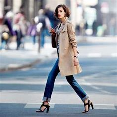 Ines de la Fressange's daughter, Nine a couple of years ago - still a great look!