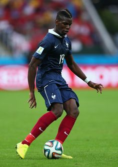 Paul Pogba of France controls the ball during the 2014 FIFA World Cup Brazil Group E match between France and Honduras at Estadio Beira-Rio on June 15, 2014 in Porto Alegre, Brazil.