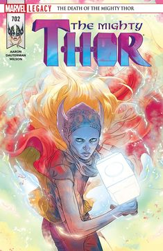 December 2017 Comic Covers Super Sons 11 - Dustin Nguyen (DC) Love and Rockets 4 - Gilbert Hernandez (Fantagraphics) The Mighty Thor 702 - Russell Dauterman (Marvel) Paper Girls 18 - Cliff Chiang. Drawing Superheroes, Marvel Comics Superheroes, Lego Marvel, Thor Marvel, Marvel Art, Avengers, Comic Book Covers, Comic Books, Guerra Total