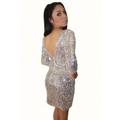Silver Sequence Dress. Sparkles for NYE.