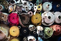 rolls and rolls of fabric