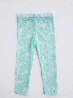 Como hacer calzas de encaje para niñas 6