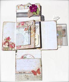 Con una sonrisa: Scrapbooking * PIN SPIN * Mini Album in a Box (Pinterest Inspiración)