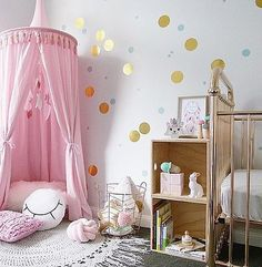 Baby pink nursery canopy / Freddie & Ava Australian Designer kids canopies / Light Pink nursery design theme $139.00