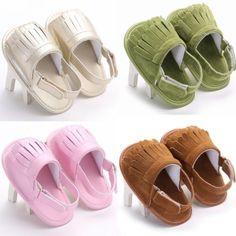 Bebé Recién Nacido Niñas poco Niños Borla Verano Sandalias Zapatos transpirables prewalkers
