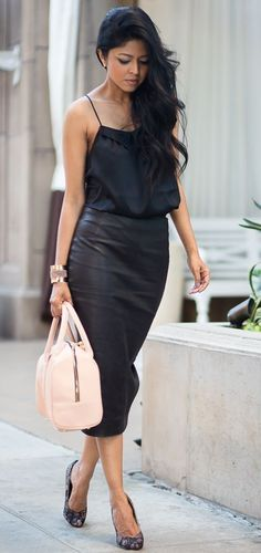 Black Pencil Street Chic