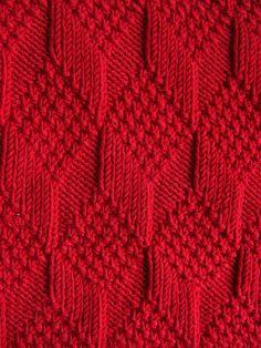 """Moss Diamond and Lozenge Pattern"" by natalief on Flickr - Moss Diamond and Lozenge Pattern from 'A Treasury of Knitting Patterns', written by Barbara G. Walker, Knit-Purl Combinations"