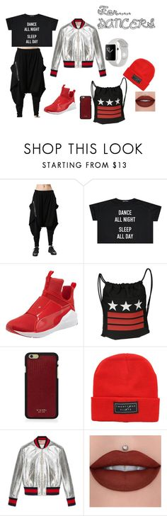"""#dancer.style/6"" by juliefashionz on Polyvore featuring moda, Puma, Givenchy, Vianel i Gucci"