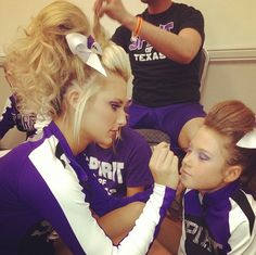 cheer hair and makeup!