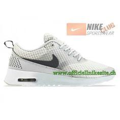sale retailer 946d7 041a7 Nike Air Max Thea Premium GS Chaussures de Running Pour Femme  GrisArgentBlanc