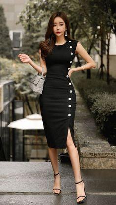 Women's Sleeveless High Neck Maxi Dress -Universal Thread™ - Cute classic black dress design – Black Dresses – Ideas of Black Dresses – Source by - Elegant Dresses, Pretty Dresses, Sexy Dresses, Beautiful Dresses, Casual Dresses, Short Dresses, Fashion Dresses, Dresses For Work, Summer Dresses