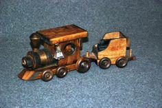 Handmade wooden train set, made in Boise!