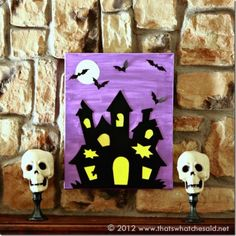 Halloween Canvas To Make With Your Kids | Shelterness