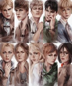 Funny Drawings, Realistic Drawings, Cool Drawings, Armin, Justin Bieber, Christa Lenz, Connie Springer, Rivamika, Attack On Titan Anime