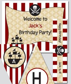 diy pirate invitations | Pirate Party Printable Invitation and Design