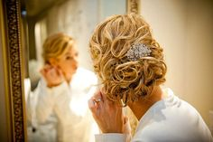 Love the hairstyle and the Rhinestone Bridal Hair Brooch Comb  Hannah a Couture by BCGirls, $39.00